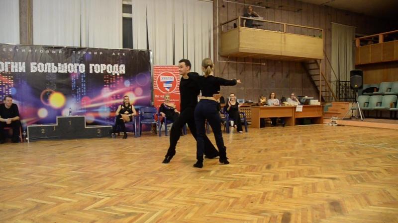 Хастл, Огни большого города 2019, ДнД Champion, финал, Цапурина Анна и Ермаков Виталий, fast