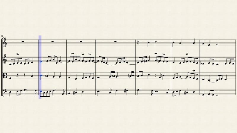 Chorale Das alte Jahr vergangen ist BWV 1091 for String Quartet
