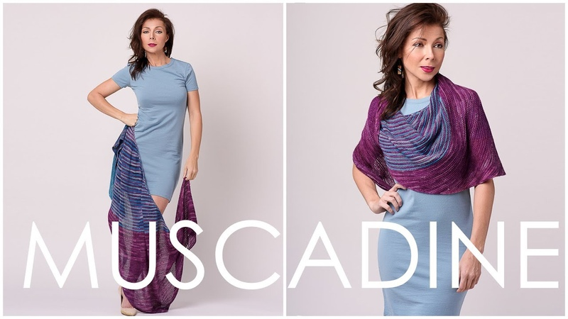 How to Knit a Color-Changing Shawl! (Easier than you think!)! Muscadine Shawl