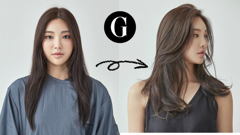[그라피TV] {ENG SUB} 긴머리 가볍게 커트하기 Asian hairstyle Korean woman's long layered haircut