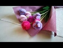 Букет тюльпанов из синельной проволоки