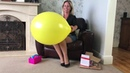 Reviewing some balloons sent to me by a supporter