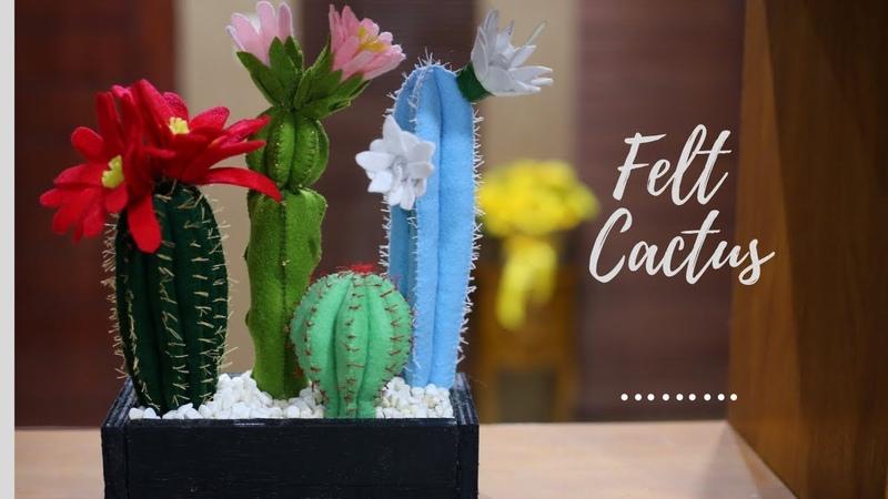 Cara membuat kaktus dari kain flanel | DIY Felt cactus