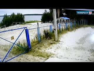 Хулиганы, испортившие новую беседку на озере Ханто в Ноябрьске, попали на видео