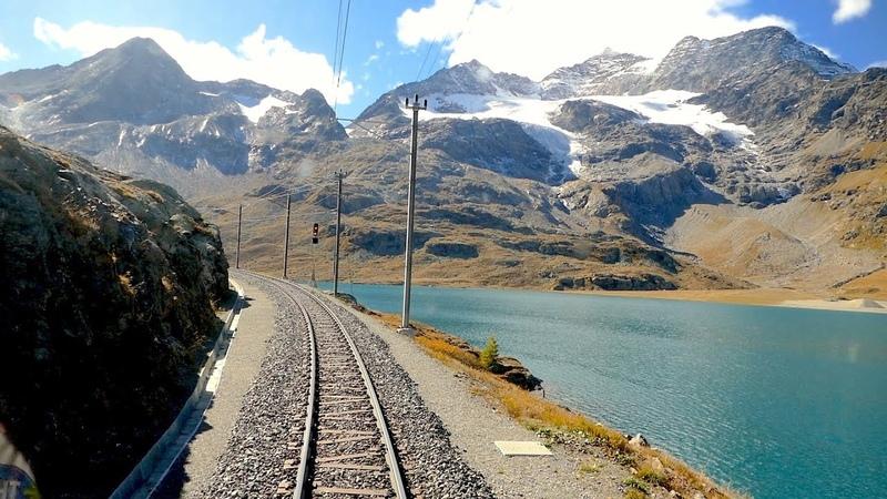Cab ride St. Moritz Tirano Bernina pass Switzerland to Italy 10.2019