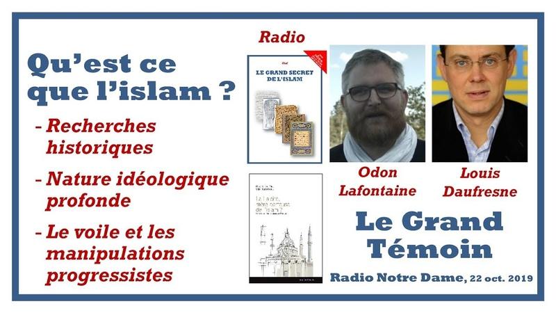 Odon Lafontaine invité de lémission le Grand Témoin - 22 oct. 2019