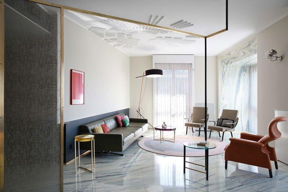 Переливы мрамора: необычный интерьер миланской квартиры по проекту Marcante Testа