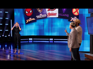 Brie larson & twitch assemble to play the new marvel `heads up!` decks