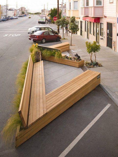 External - Noriega Street Parklet by Matarozzi Pelsinger Design   Build by PortlandDevelopments