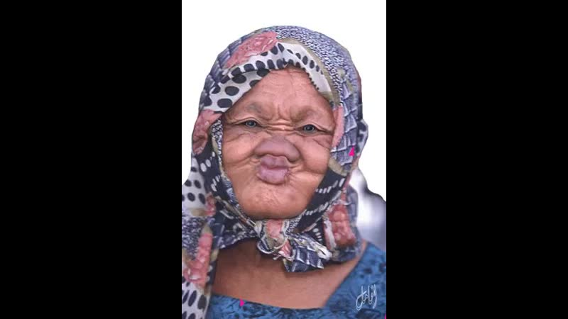 Бабулька-красотулька.
