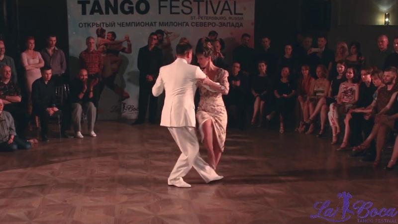 Fabian Peralta Josefina Bermudez Avila. 2-4. La Boca Tango Fest