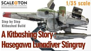 A Kitbashing Story: Hasegawa Lunadiver Stingray Step by Step Kitbashed Build Maschinenkrieger