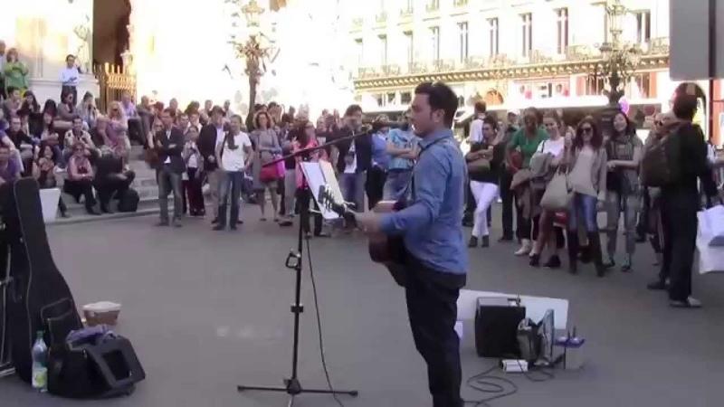 Imagine by John Lennon, performed by Youri Menna, Paris, 10182014