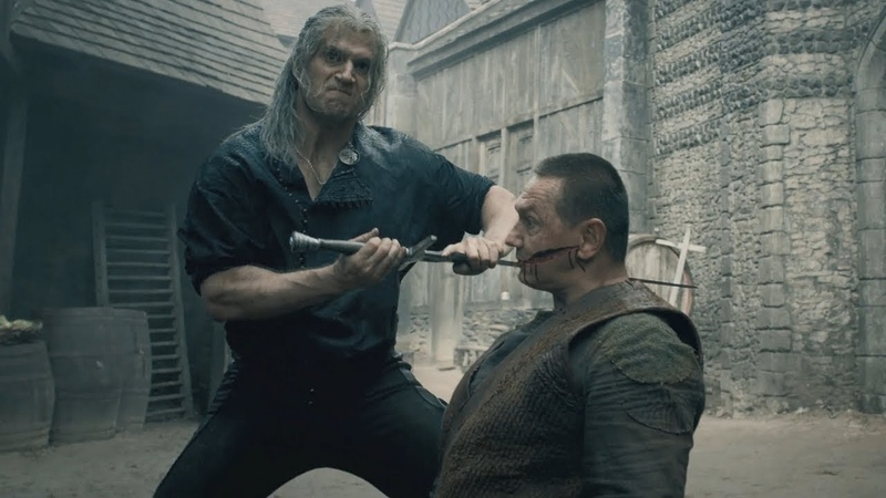 The Witcher Blaviken Market Fight Scene Geralt Butchers Renfri's Gang