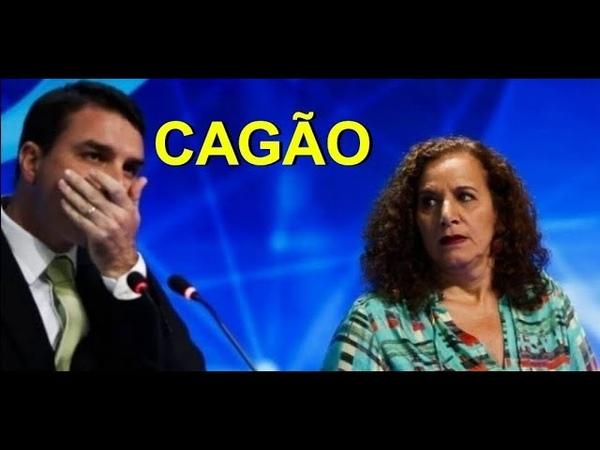 Deputada Jandira revela que Flávio Bolsonaro cagou nas calças em debate