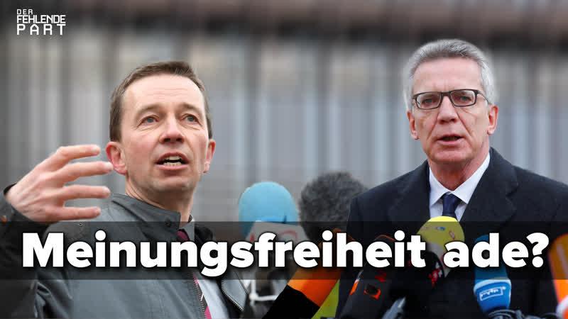Meinungsfreiheit Das Beispiel Bernd Lucke und Thomas de Maizière