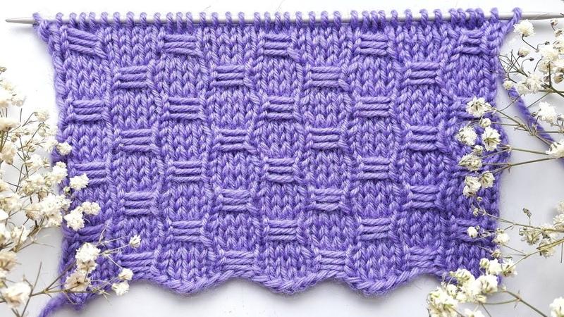 Простой и легкий узор спицами Рельефные соты Черепица для пледа носков пуловера