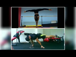 Maria & georgy workout acrobatics
