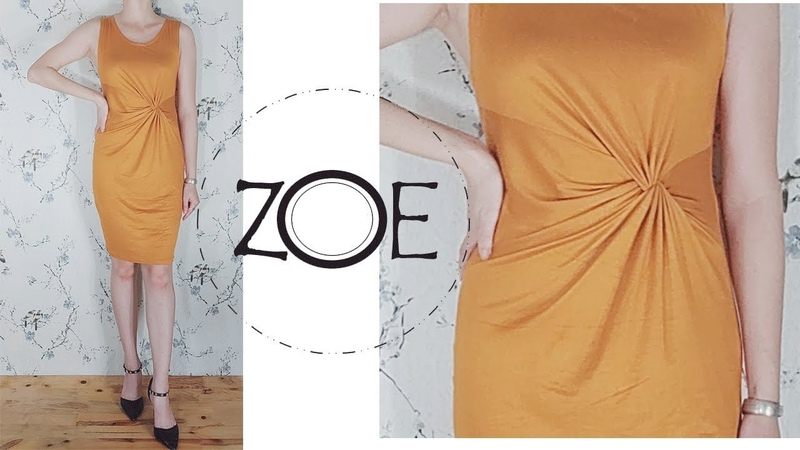 DIY Sewing Front Twist Dress Develop from Basic pattern ep 01| Zoe DIY