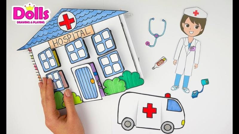HOSPITAL PAPER QUIET BOOK DOCTOR MEDICAL KIT CRAFTS FOR KIDS