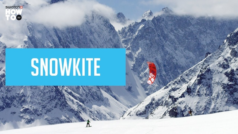 SNOWKITE TO ACCESS FREERIDE LINES HOW TO XV