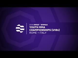 Первенство мира по #mma 2019 immaf - wmmaa youth championships (u18s) rome italy