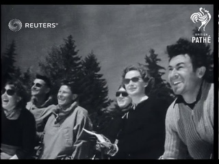 Long distance ski race (1952)