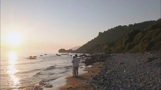 Остров Корфу. Фантастический закат. Съемка на дрон.