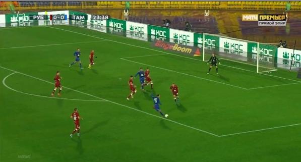 Как итог удар с подъема, который вратарь не сможет зафиксировать, хотя мяч попадет прямо в него.
