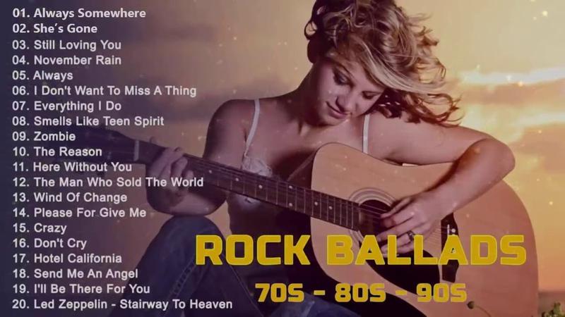 Slow Rock love song nonstop Rock Ballad of The 70s 80s 90s Best Rock Ballads 📻