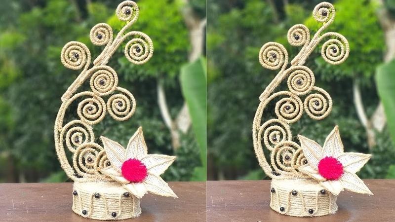 DIY Handmade Jute Rope Showpiece    Jute Showpiece Making At Home    New Home decoration idea