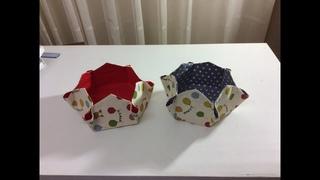 Tuto Couture Madalena - Coudre un petit panier Hexagonal