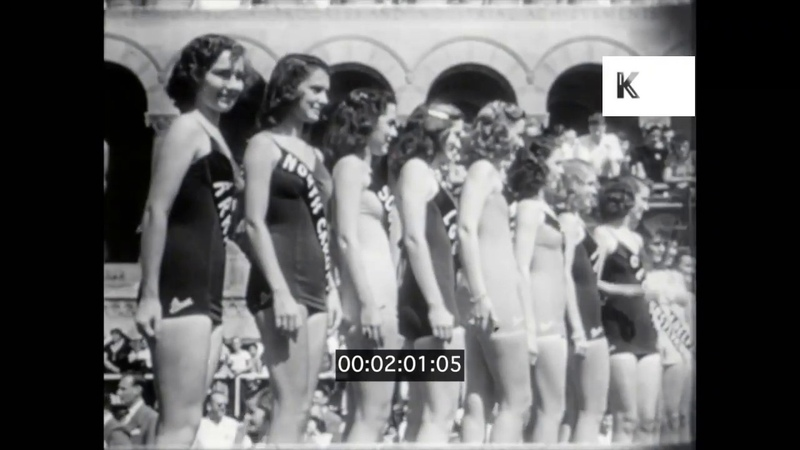 1940s 1950s USA Miss America Beauty Queen Pageant and Parade Atlantic City 16mm