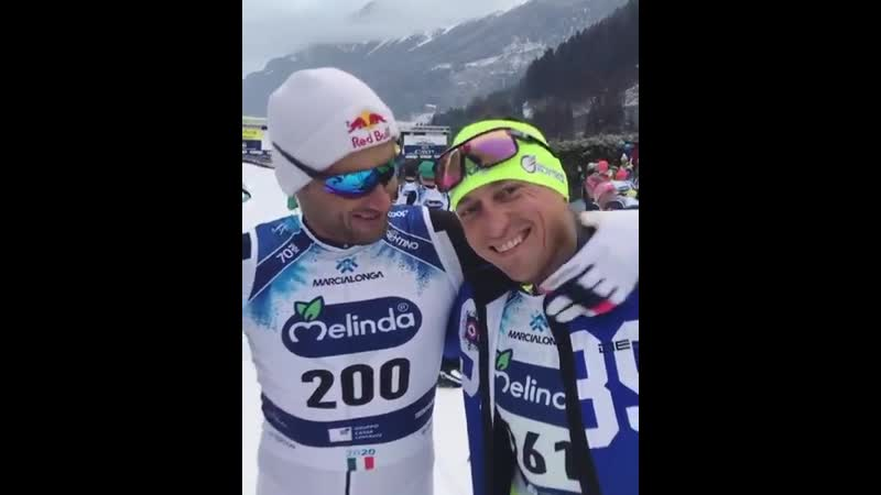 Petter Northug and Alexander Legkov