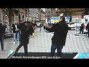 Linker spuckt in Erfurt vor Stürzenberger und zeigt Mittelfinger