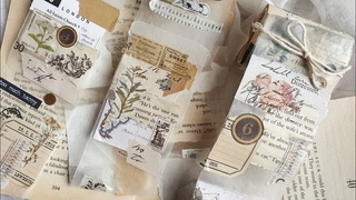 collage receipt roll • wax paper [diy tutorial]