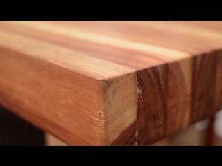 Старые доски превратились в новый стол - когда руки растут откуда надо -