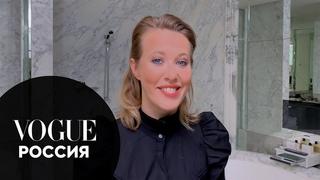 Секреты красоты: Ксения Собчак показывает, как сделать макияж для голубых глаз