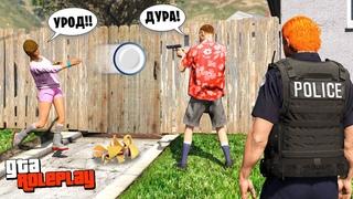 СЕМЕЙНЫЕ РАЗБОРКИ! Муж подстрелил СОСЕДА! - GTA 5 RP Radmir (Моды ГТА 5)