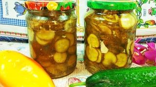 Огурчики по - польски на зиму! Отлично  пойдет к картошечке в качестве салата!