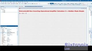 Creating Non Inverting Op Amp Calculator Easy C++Builder  Ep2