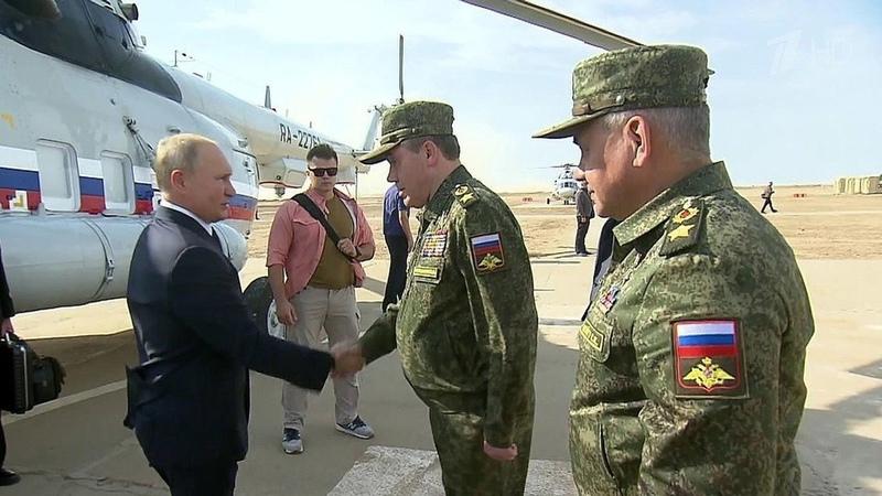 Верховный главнокомандующий лично наблюдает застратегическими учениями Кавказ 2020 Новости Первый канал