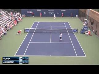 ATP Winston Salem 2014 Round 2 - Joao Sousa (6) vs Jerzy Janowicz Full Match SD