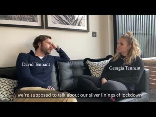 David and Georgia Tennant talking about making Staged for the charity  @chooselove