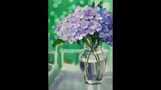 최병화수채화/choeSSi art studio/목련그리기/꽃그리기/水彩畵/how to draw flowers in still-life 수국
