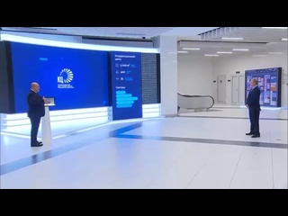 Михаил Мишустин провел для Владимира Путина экскурсию по Координационному центру правительства.