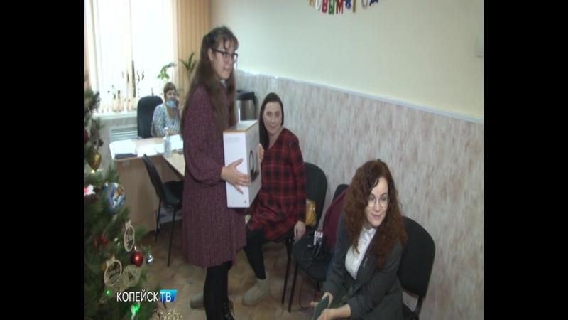 Евгений Гиске вручил подарок с Елки желаний