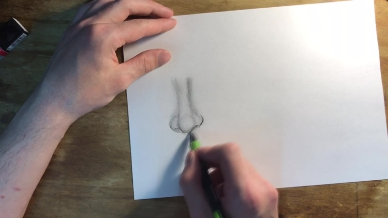 Drawing a nose Рисуем нос 👃🏻
