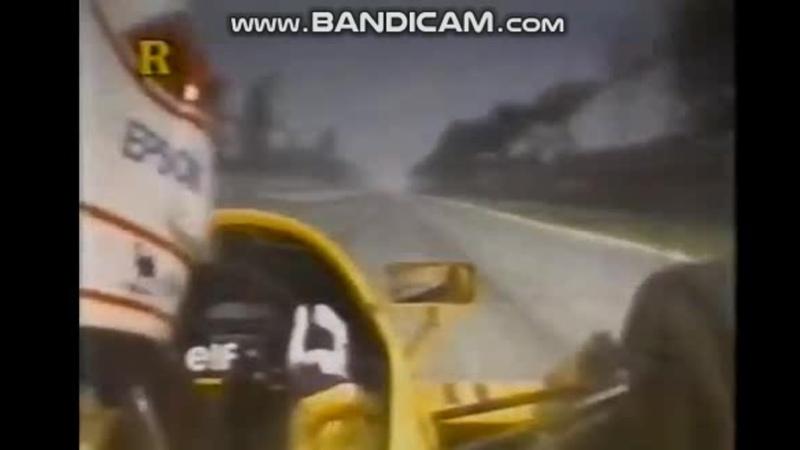 Mexico 87 Nakajima Cheever Arrows Brundle Zakspeed Johansson Mclaren crash