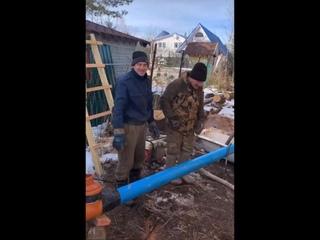 Бурение скважины в Дивенской. Лужский район.